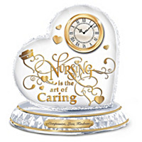 Nursing Is The Art Of Caring Crystal Clock