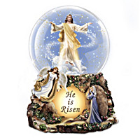 Thomas Kinkade He Is Risen Glitter Globe