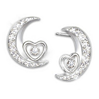 I Love You To The Moon And Back Diamond Earrings