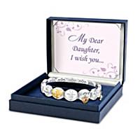 Loving Wishes For My Daughter Bracelet