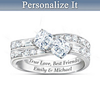 Forever You & Me Personalized Ring