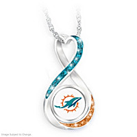 Miami Dolphins Forever Pendant Necklace