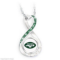 New York Jets Forever Pendant Necklace
