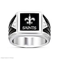 New Orleans Saints Ultimate Fan Diamond Ring