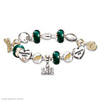 Go Eagles! #1 Fan Super Bowl Charm Bracelet
