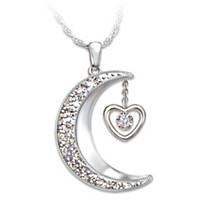 I Love You To The Moon And Back Pendant Necklace