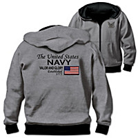 Reversible Military U.S. Navy Men\'s Hoodie