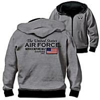 Reversible Military U.S. Air Force Men\'s Hoodie
