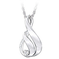 My Family, My Love Diamond Pendant Necklace