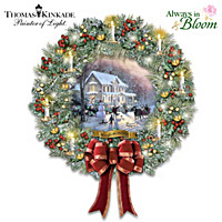 Thomas Kinkade Home For The Holidays Wreath