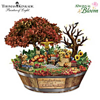 Thomas Kinkade Autumn Wishes Table Centerpiece