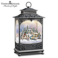 Thomas Kinkade Hearts Come Home For The Holidays Snowglobe