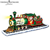 Thomas Kinkade Bringing Holiday Cheer Snowglobe Sculpture