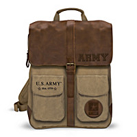 U.S. Army Canvas And Leather Backpack