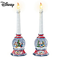 Disney Glowing Holiday Memories Candleholder Set