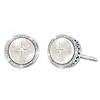 God\'s Pearls Of Wisdom Mother-Of-Pearl And Diamond Earrings