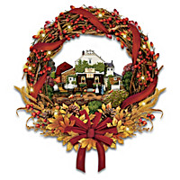 Charles Wysocki Autumn\'s Greeting Wreath