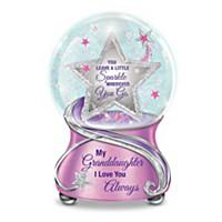 My Granddaughter, You Sparkle Glitter Globe