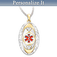 Stylishly Safe Personalized Pendant Necklace