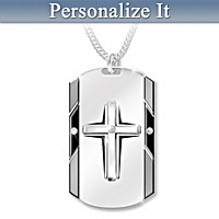 Bless My Husband Personalized Diamond Pendant Necklace