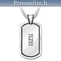 My Husband, My Friend Personalized Diamond Pendant Necklace