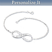 Our Infinite Love Personalized Diamond Bracelet