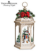 Thomas Kinkade Winter In A Wonderland Table Centerpiece