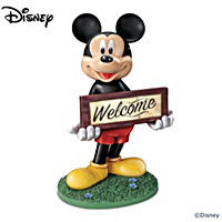 Disney Mickey Mouse Solar Lit Welcome Sign