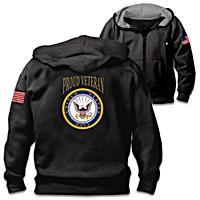 Veterans Pride Navy Men\'s Hoodie