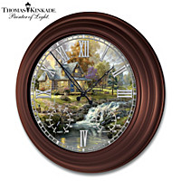 Thomas Kinkade Timeless Moments Wall Clock