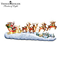 Thomas Kinkade Believe In Holiday Magic Sculpture