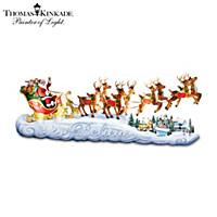 Thomas Kinkade Believe In Holiday Magic Sculpture