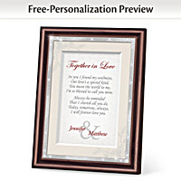 Together In Love Personalized Poem Frame