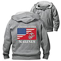 USMC Dual Flag Men\'s Hoodie