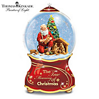 Thomas Kinkade The True Meaning Of Christmas Glitter Globe