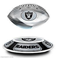 Raiders Levitating Football Sculpture