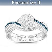 True Love Personalized Diamond Bridal Ring Set