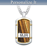 Courageous Son Personalized Pendant Necklace
