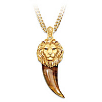 Heart Of A Lion Pendant Necklace