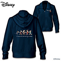 Disney Mickey Mouse Through The Years Women\'s Hoodie
