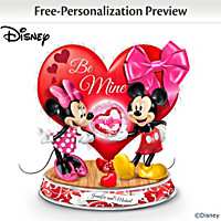 Disney Be Mine, Always Personalized Glitter Globe