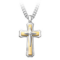 Strength Of Faith Diamond Pendant Necklace