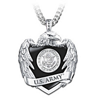 U.S. Army Eagle Shield Pendant Necklace