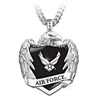 U.S. Air Force Eagle Shield Pendant Necklace