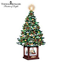 Thomas Kinkade A Holiday Homecoming Tabletop Tree
