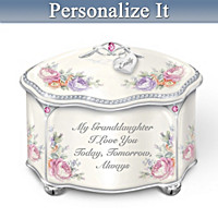 My Granddaughter Forever Personalized Music Box