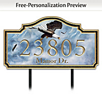 Eagle Majesty Personalized Address Sign