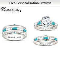 Sacred Promise Personalized Wedding Ring Set