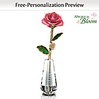 A Mother\'s Lasting Love Personalized Rose Centerpiece