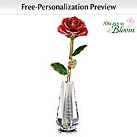 Everlasting Love Personalized Rose Centerpiece